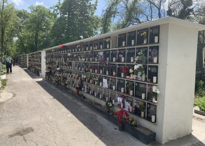 урнови клетки - Централни Софийски гробища